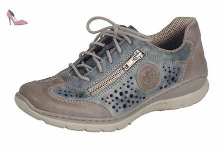 Rieker M6251, Sneakers Basses Femme, Bleu (Pazifik/Pazifik/Schwarz/Schwarz/Grey), 36 EU