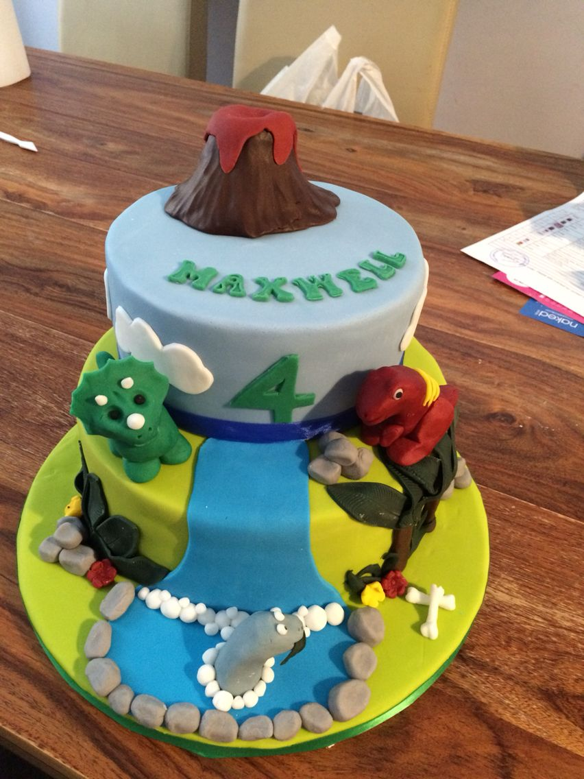 Dinosaur Birthday Cake Cake Creations Pinterest Dinosaur