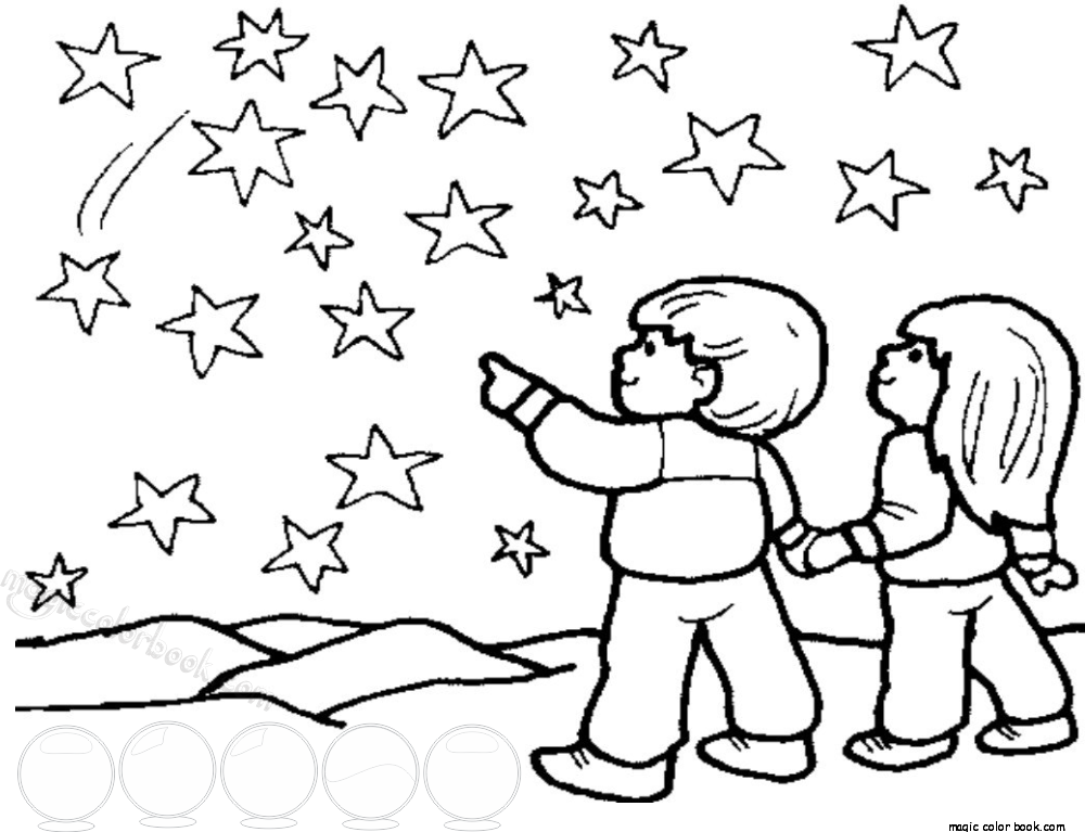 Stars Free Printable Coloring Page For Kids Magic Color Book