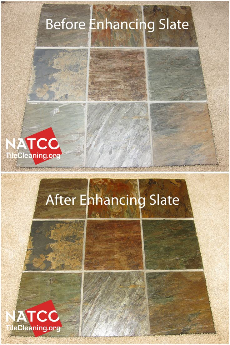Enhancing the colors of slate tiles and giving the slate a wet tile flooring dailygadgetfo Gallery