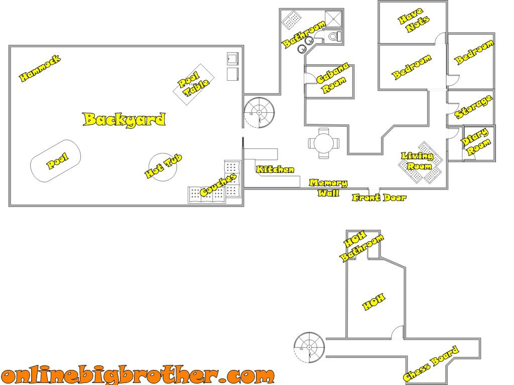Big Brother House Floor Plans Big Brother House House Floor