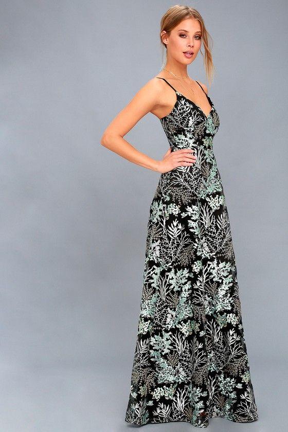 Strapless Lace Maxi Dress