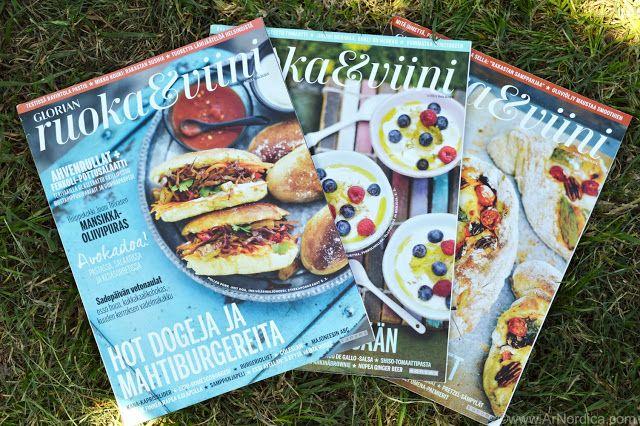 ArNordica: Glorian Ruoka & Viini - Revista Finlandesa - Reseña + Receta - Finnish Magazine