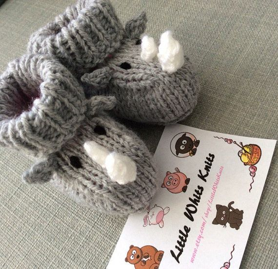 Baby Booties Crochet Socks Boys Girls Shoesl Baby Shower Gift Gray