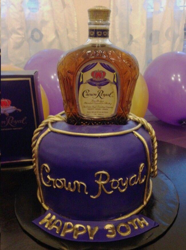 Crown Royal Birthday Cake 30th Birthday Cakes For Men Crown