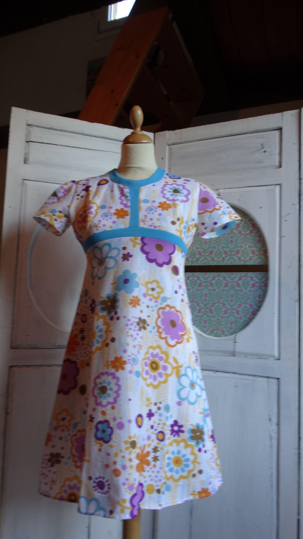 2f4fd009e04 vintage 1960 robe chasuble couleurs psychédélique taille 36 printemps été  de la boutique MretMme sur Etsy