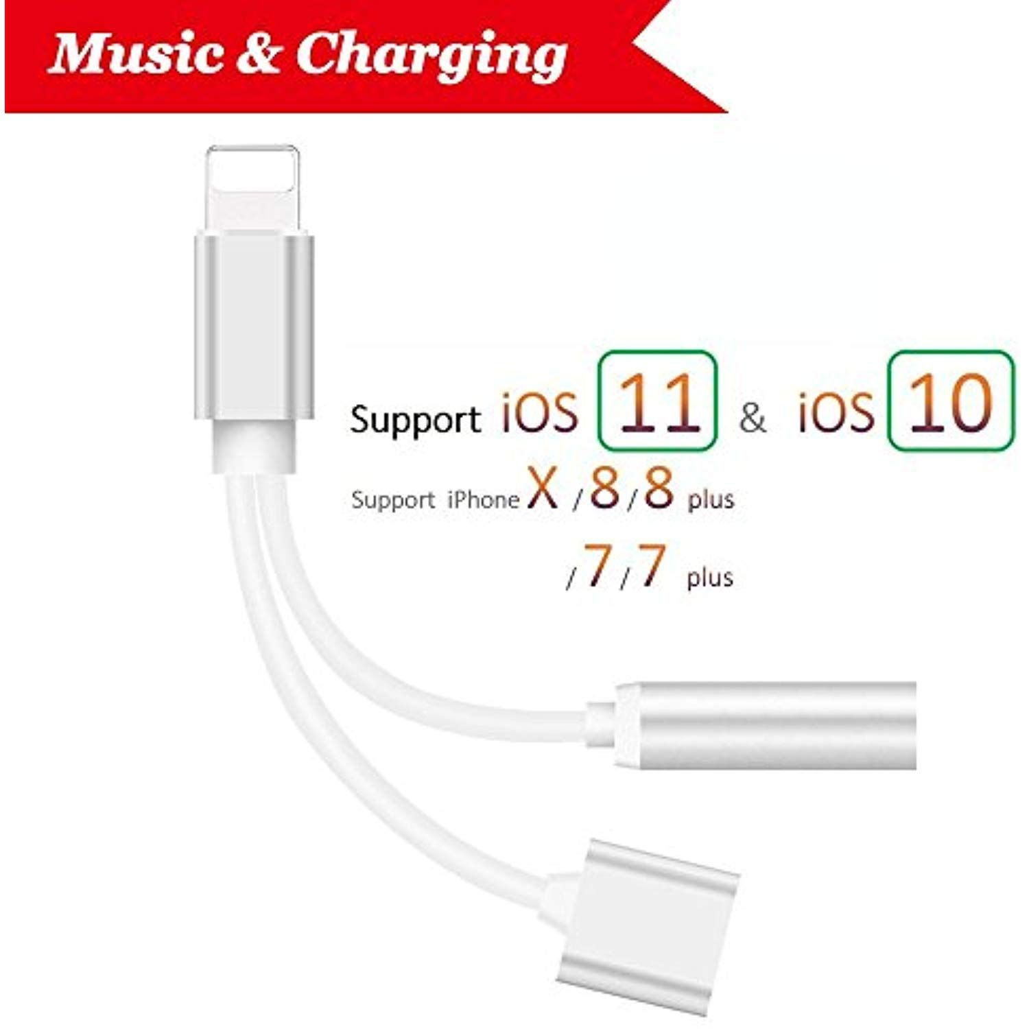 441045db2c0 Lightning jack Adapter and Charger,Headphones Adapter and Charging  Lightning to 3.5mm Headphone Jack