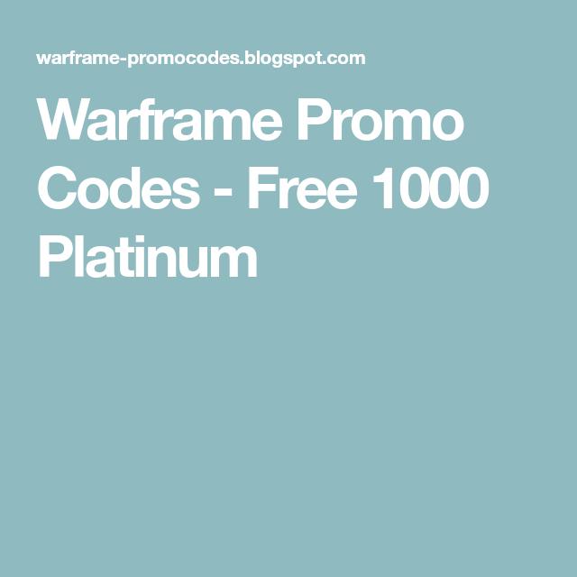 Warframe Platinum Codes 2018 Ps4