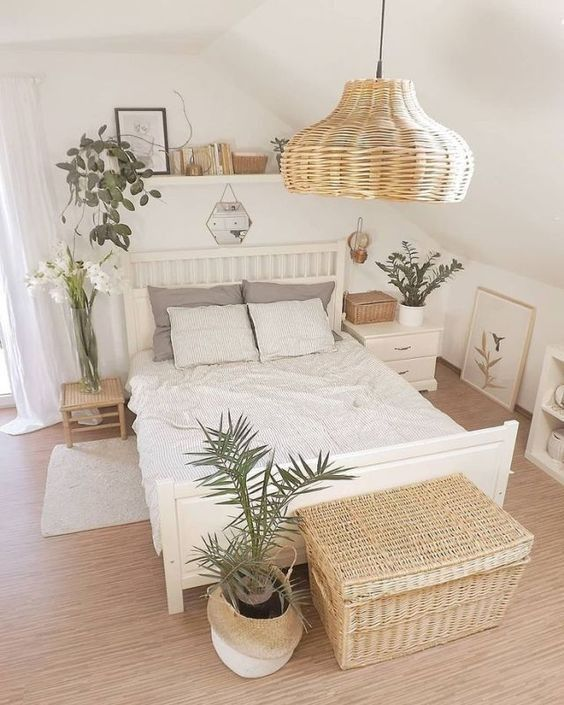Awesome cozy bohemian bedroom ideas for your first apartment 9 #bohemianbedrooms...