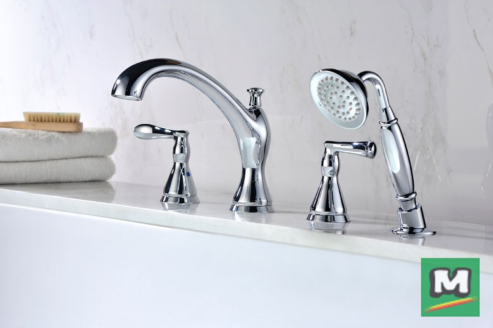 Enjoy The Classic Style Of A Tuscany® Jensen Roman Tub Faucet With Handheld  Showerhead.