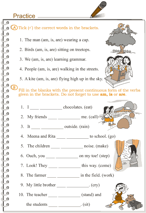 Grade 3 Grammar Lesson 8 Verbs – the present continuous ...
