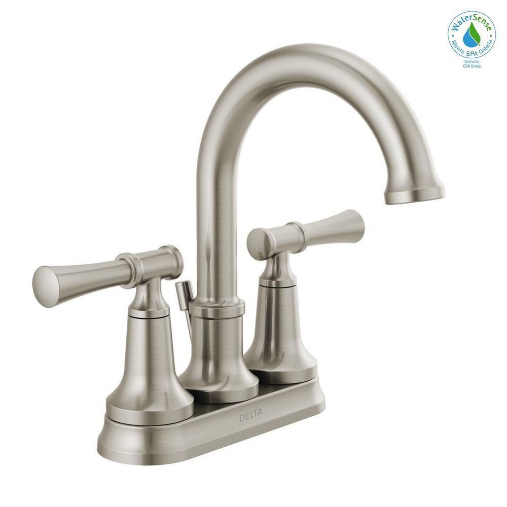 Delta Chamberlain 4 In Centerset 2 Handle Bathroom Faucet In