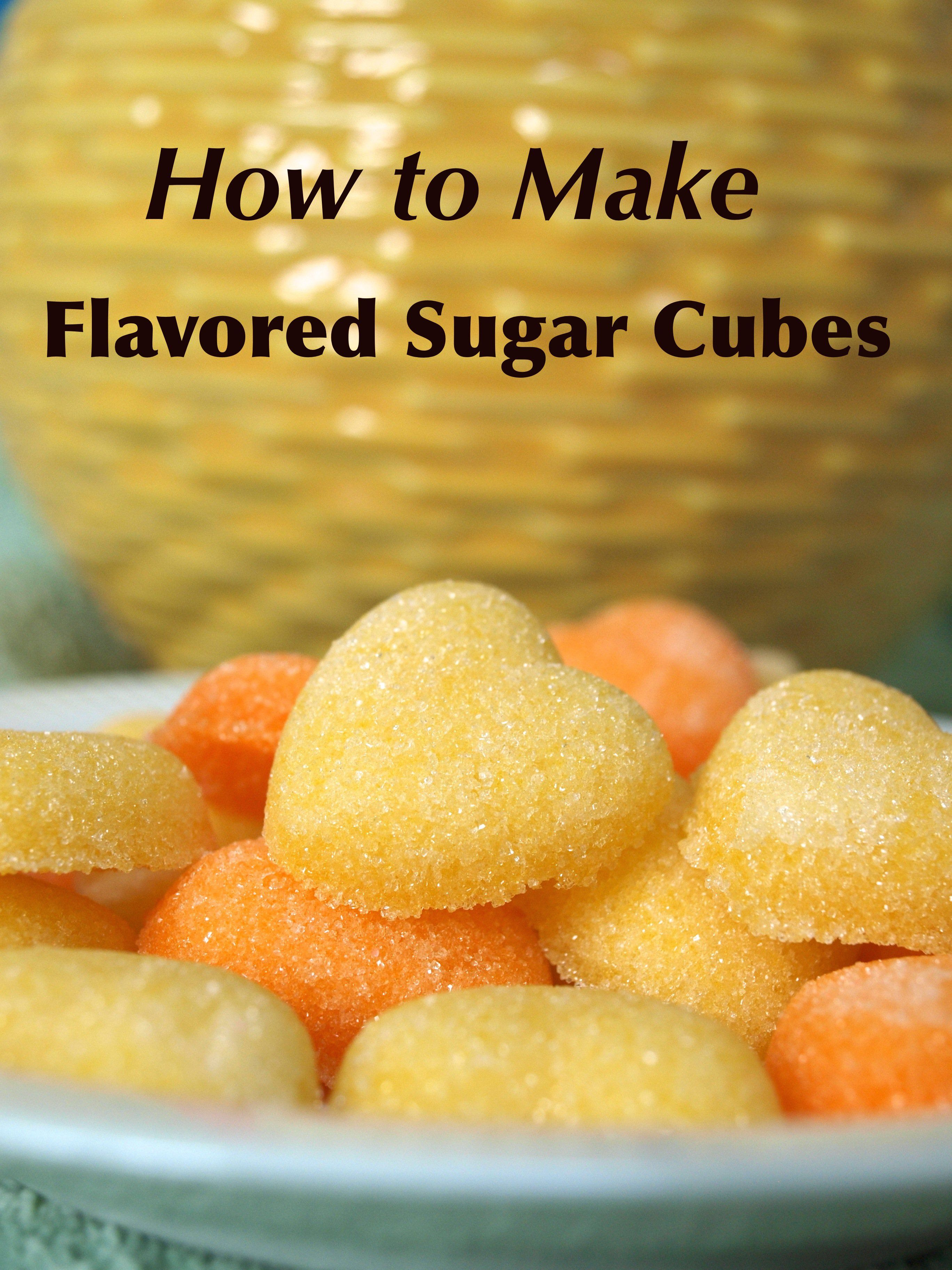How to Make Flavored Sugar Cubes