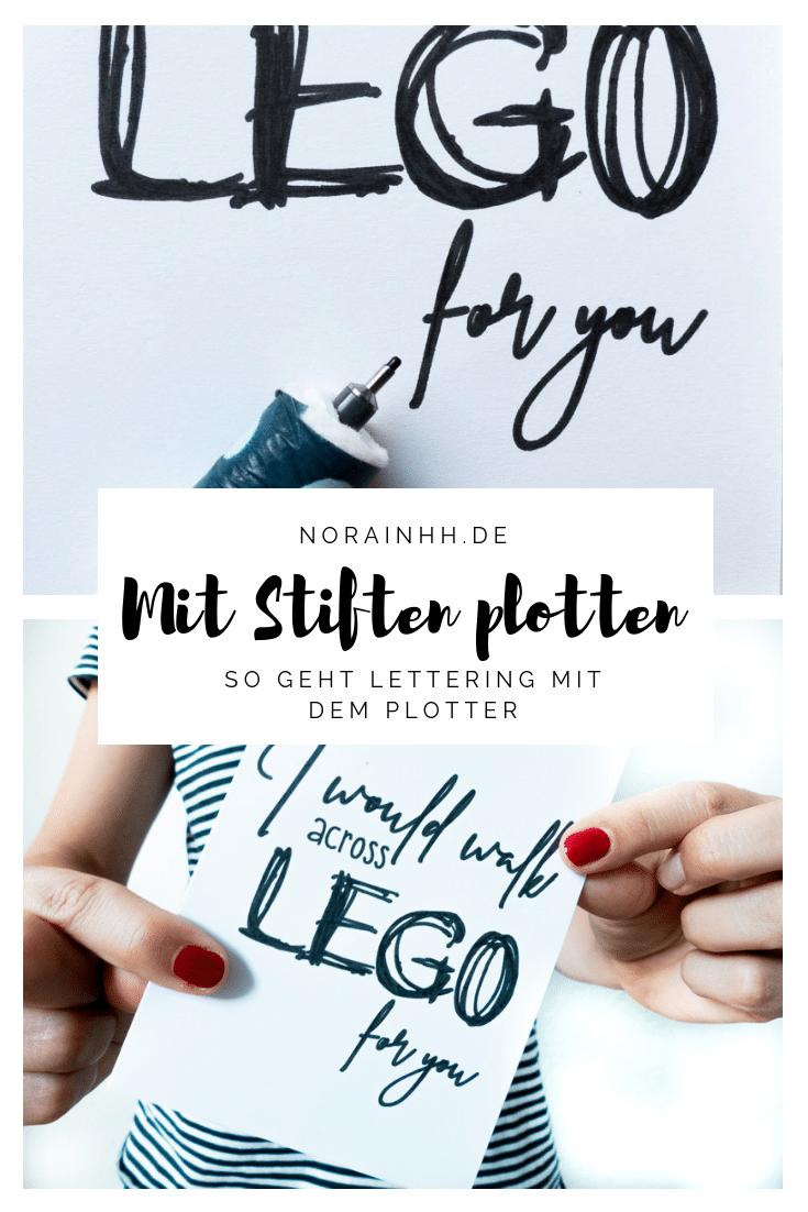Lettering mit dem Plotter - DIY Postkarten gestalten | norainhh.de