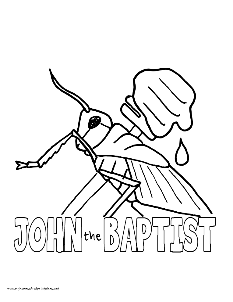 World History Coloring Pages Printables John the Baptist | Wednesday ...