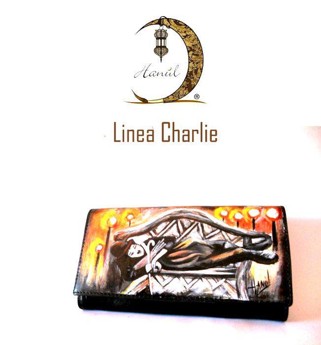 portafogli dipinti a mano#portafogli dipinti#charlie chaplin#hand-painted wallets#