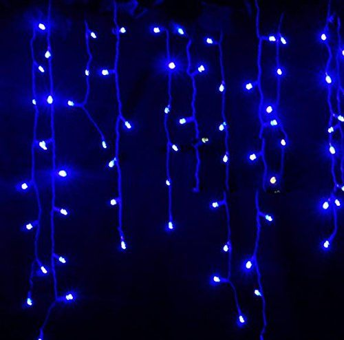Spectacular LEMONBEST New M LED Fairy Lights Curtain Icicle Starry String Lights for Bedroom Christmas