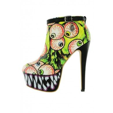 Timmy Chew Platform Bootie ❤ Green - Booties - Shoes