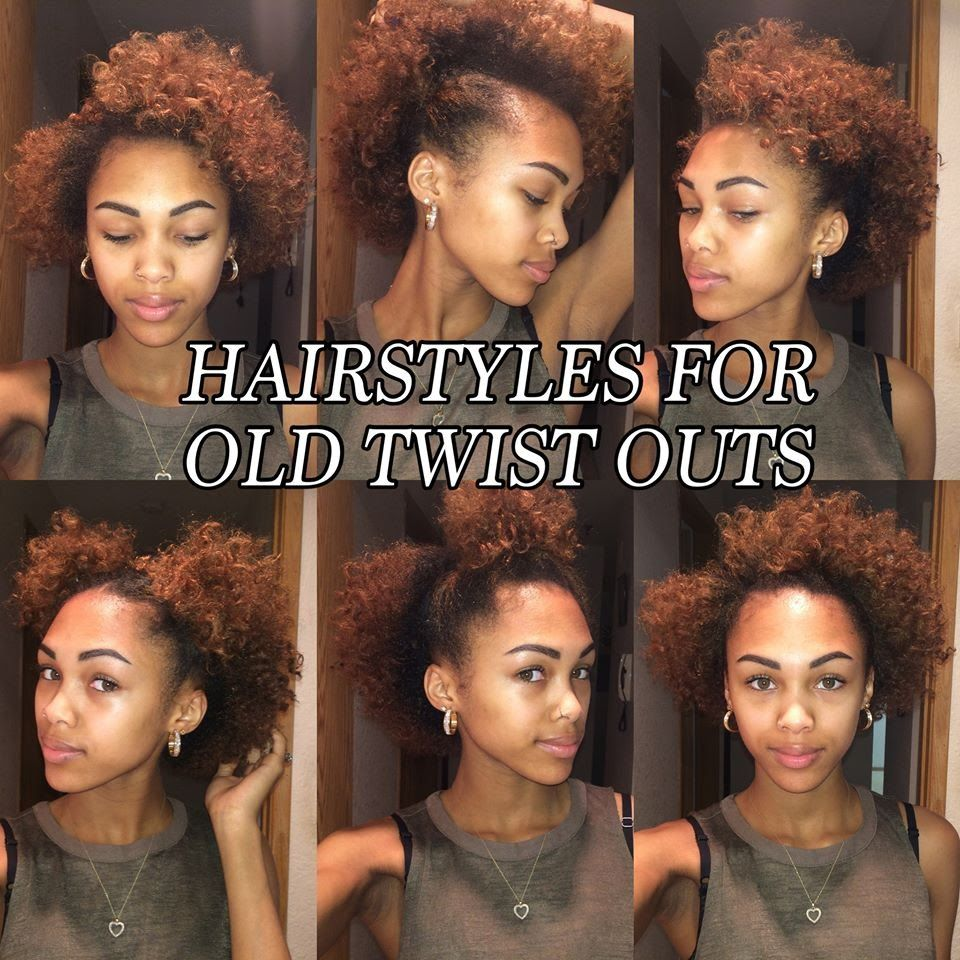 6 Quick And Easy Hair Styles For Old Twist Outs Natural Hair My