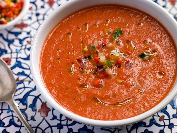 Гаспачо | Рецепт гаспачо, Рецепты супов и Гаспачо