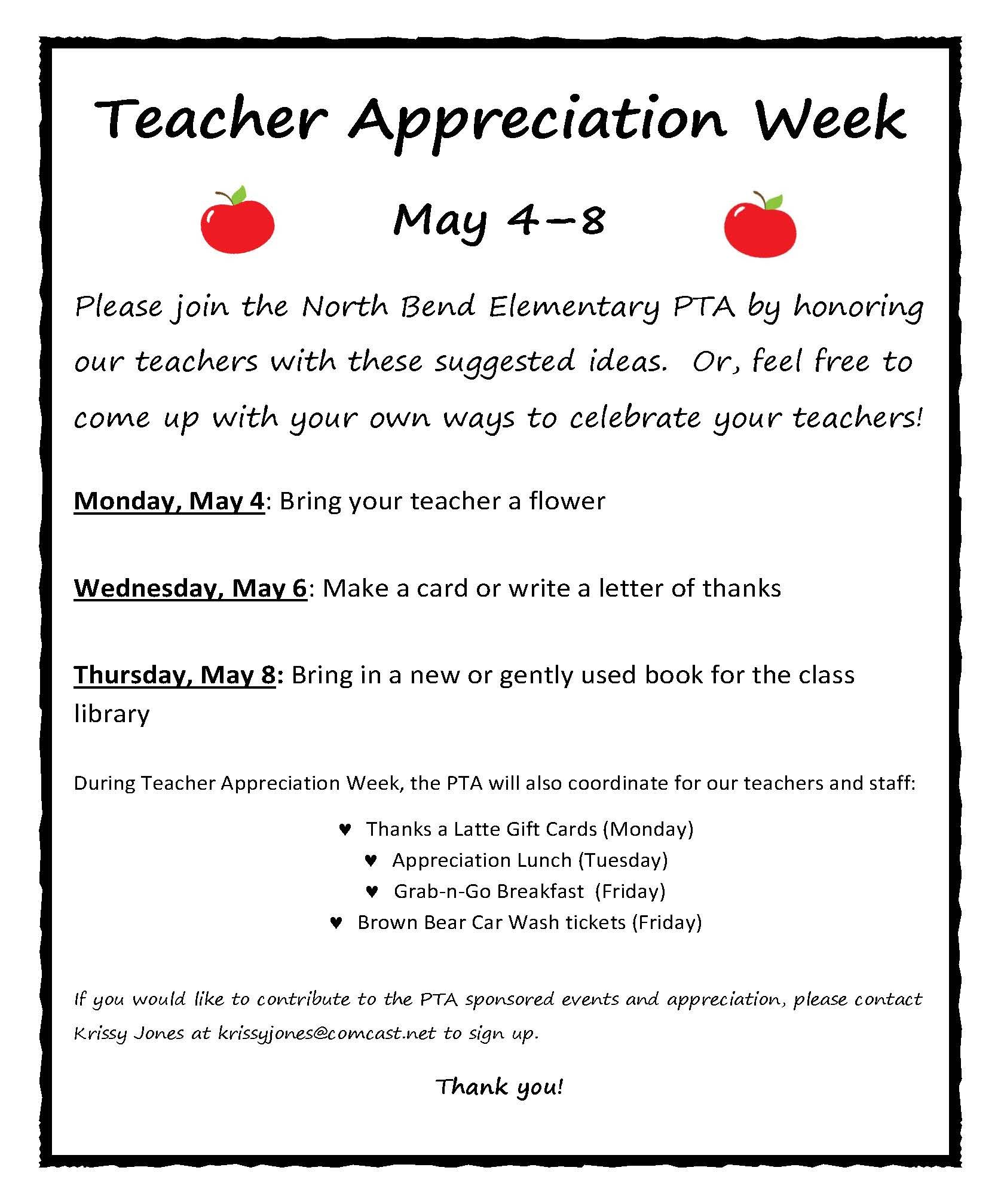 Teacher Appreciation Week Schedule Yahoo Image Search Results