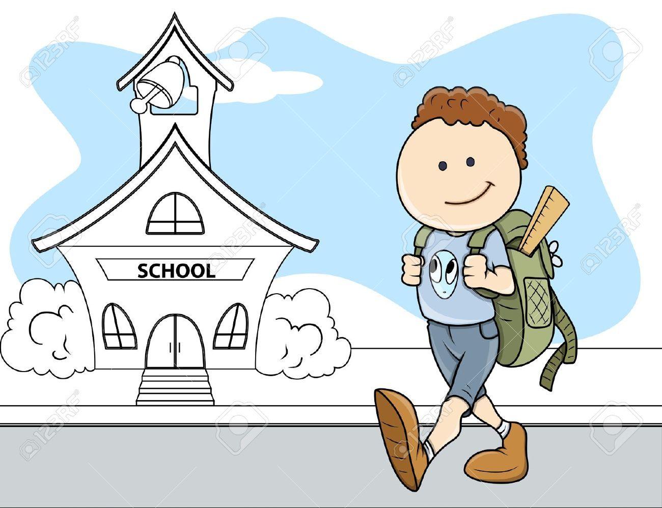 go to school cartoon Google Search Bahasa inggris