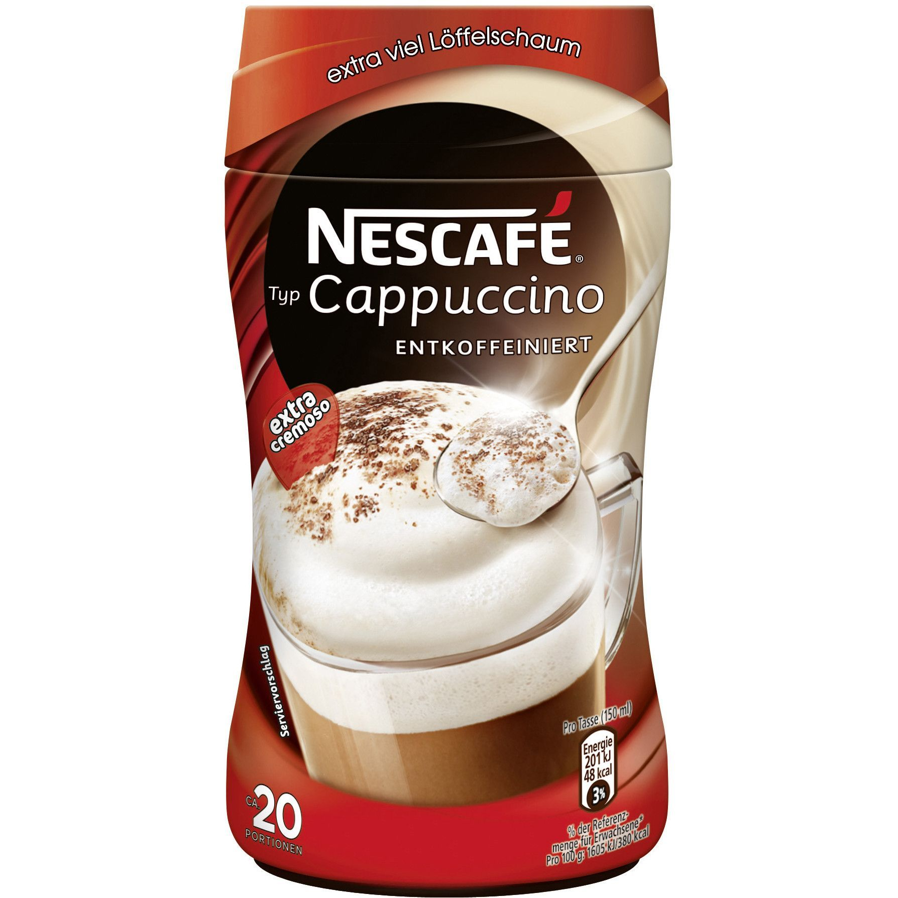 in USA Nescafe Cappuccino EXTRA CREAMY DECAF 250g 1