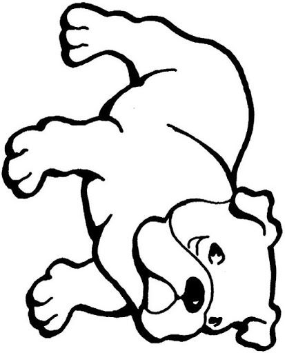 Bulldog coloring pages for kids free coloring pages for Free printable bulldog coloring page