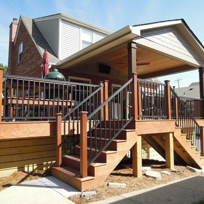 Best With Two Sets Of Deck Steps An Ipe Covered Deck Is Built 400 x 300