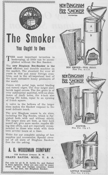 A G  Woodman Co  manufacturers of bee hives, bee smokers and