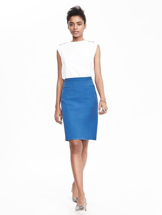 0af9bcd07 product photo Blue Pencil Skirts, Stretch Pencil Skirt, Banana Republic,  Plaid Skirts,