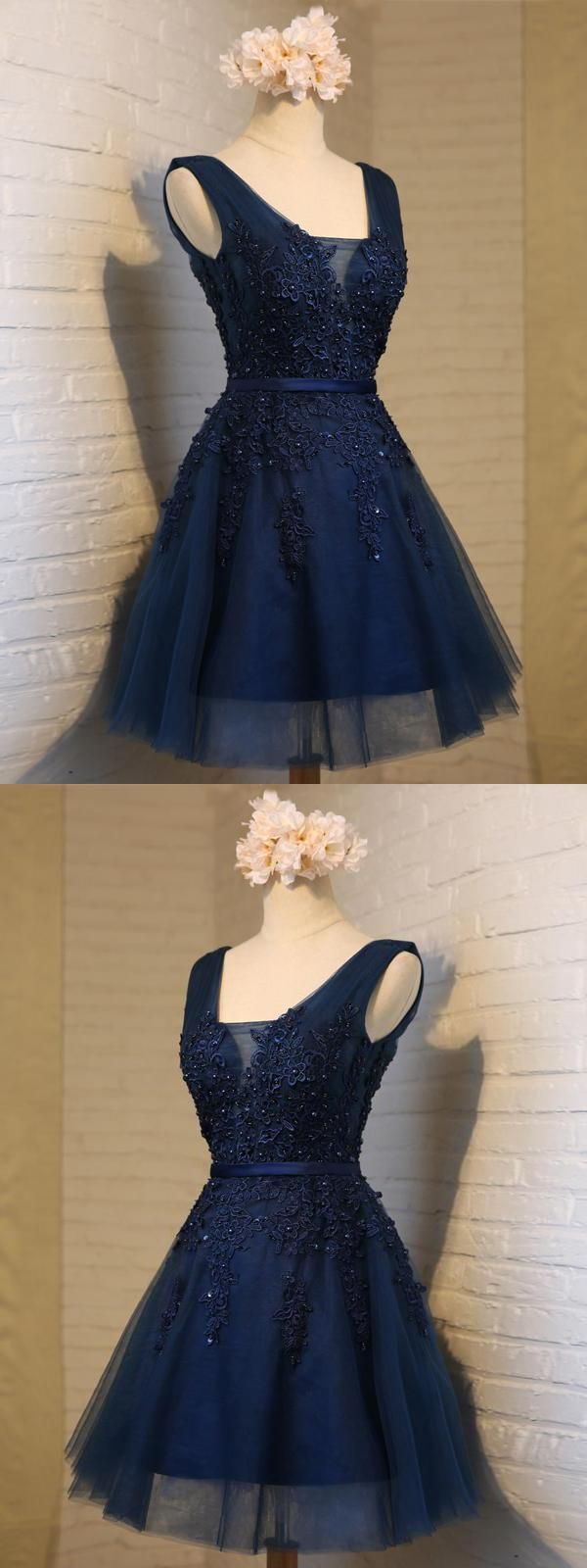 Navy blue prom dresses vneck homecoming dresses homecoming