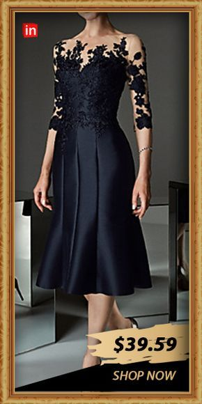 Abiti Eleganti Xxl.Women S Daily Elegant Sheath Dress Floral Lace Black M L Xl Xxl