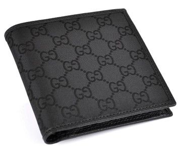 9d7c5680825e Get the lowest price on NEW GUCCI MEN S BLACK CANVAS GG GUCCISSIMA BIFOLD  WALLET and other fabulous designer clothing and accessories! Shop Tradesy  now