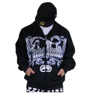 Hip hop letters graffiti hoodie for men black