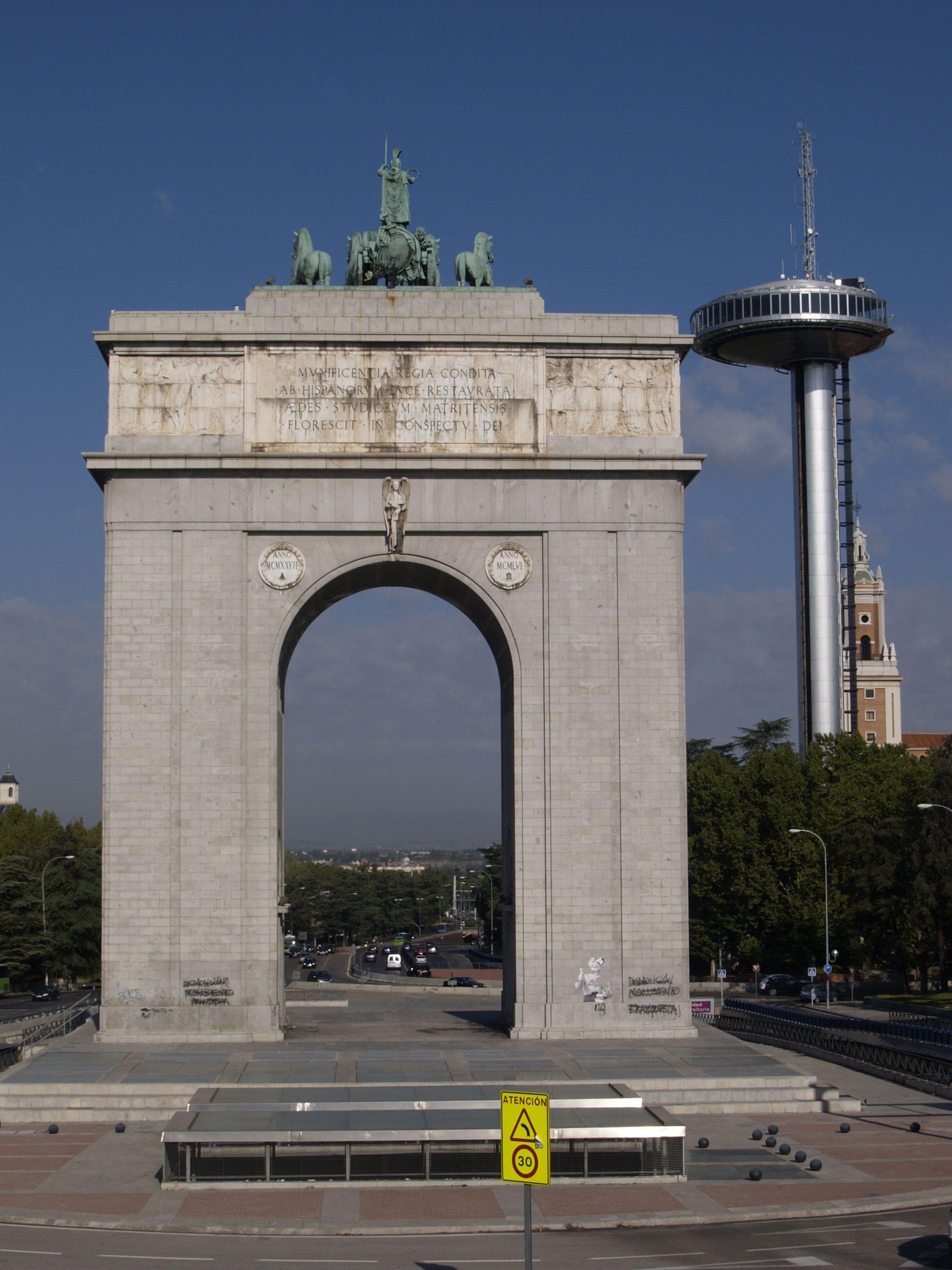 Arco Del Triunfo El Arco De La Victoria De Madrid Popularmente
