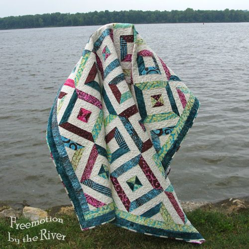 Petunia Strings Quilt Tutorial String Quilts Petunias And Rivers