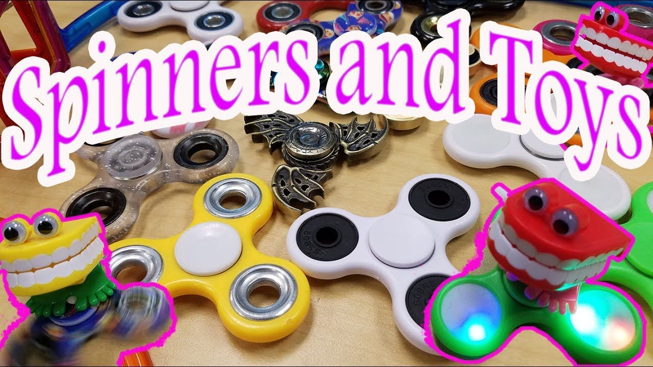 Awesome Fidget SPINNERS mixed with MAgnetic BLocks and TOys.