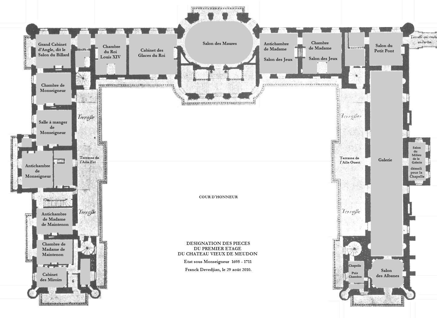 Chateau Vieux De Meudon Architectural Floor Plans Mansion Floor Plan Mansion Plans