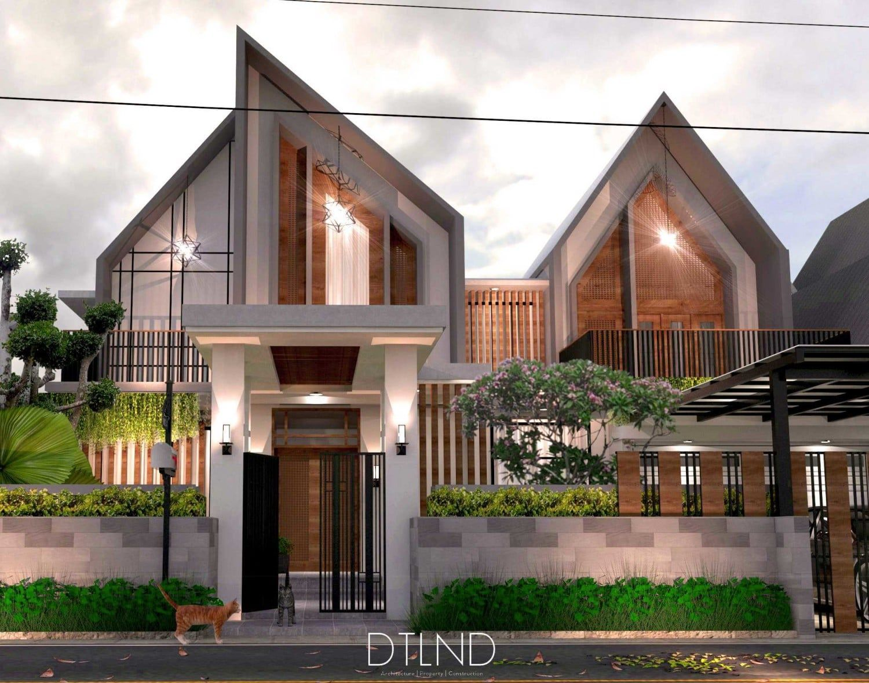Desain Rumah Minimalis Hook Miring 2 Lantai Cek Bahan Bangunan