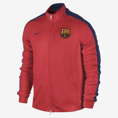 NIKE FC BARCELONA AUTHENTIC N98 TRACK JACKET LA LIGA SPAIN 2014 15 CRIMSON. a6d45d746c7
