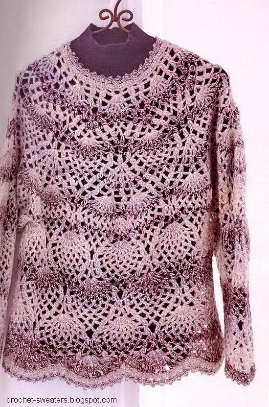 Crochet Sweater: Crochet Pineapple Lace