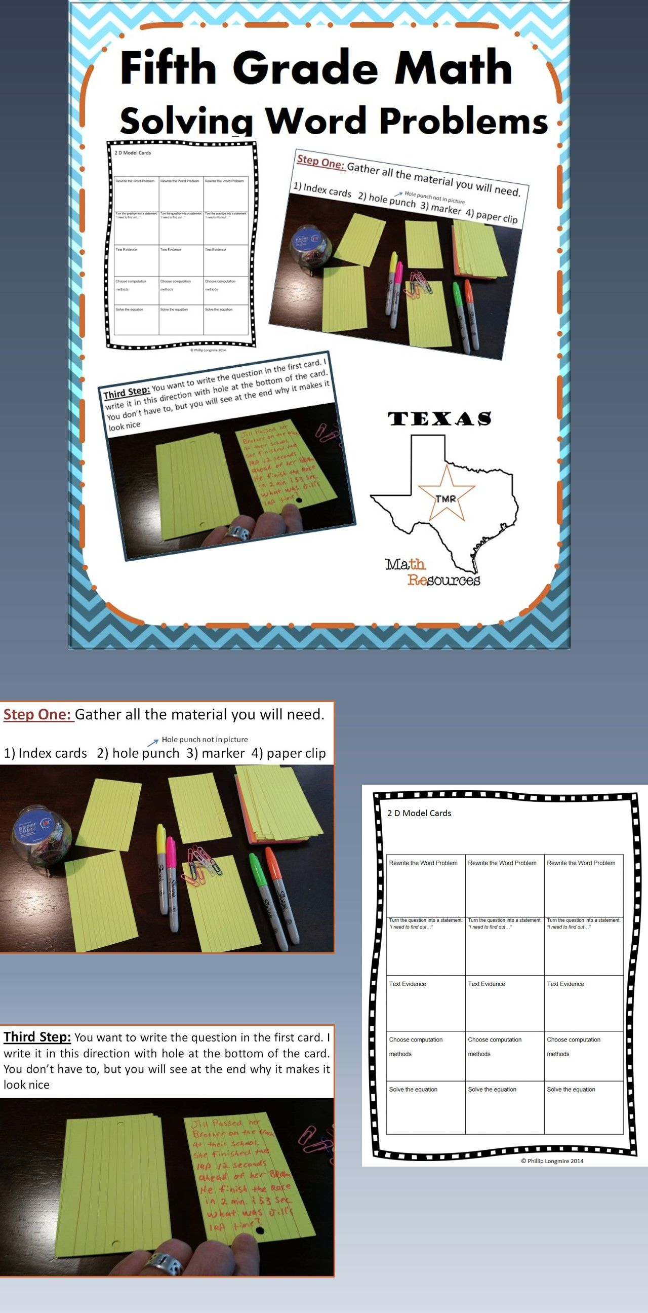 Staar 5th Grade Math Solving Word Problems