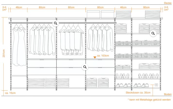 Montagehinweise Begehbarer Kleiderschrank System Aufbau Armario