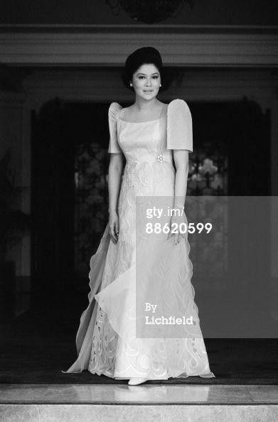 Shoe addict Imelda Marcos (b. 1929) in 1972 | Filipiniana ...