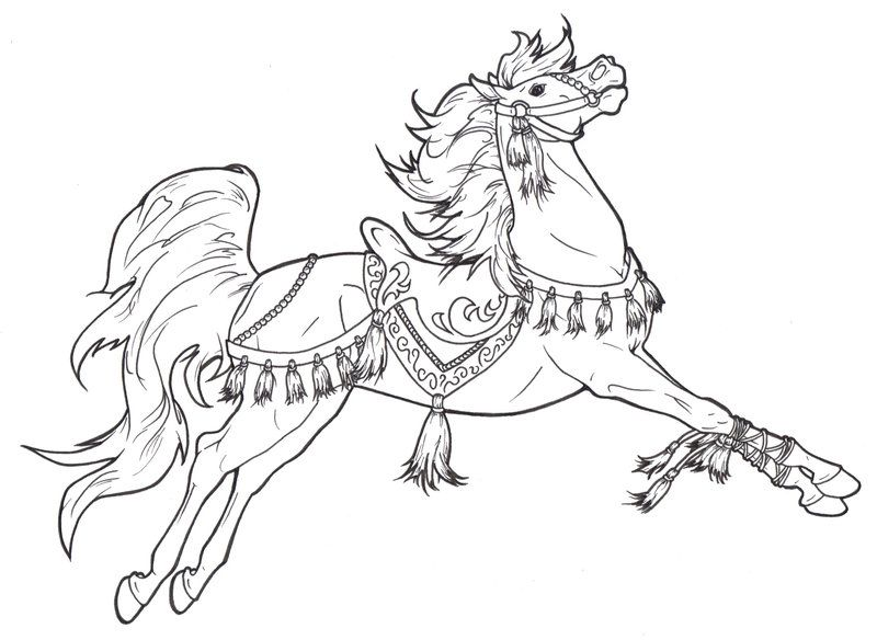 Carousel Horse Tassels Coloring PagesColoring BooksColouringMandala ColoringFree