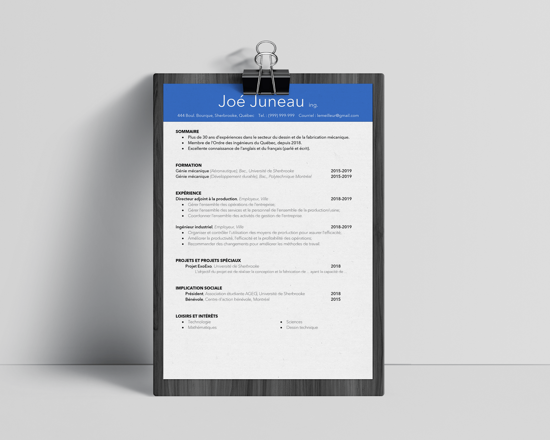 Cv Ing Nieur M Canique Steve St Pierre Https Www Stevestpierre Com Boutique Cv Ingenieur Resume Template Professional Cv Design Professional Resume Template