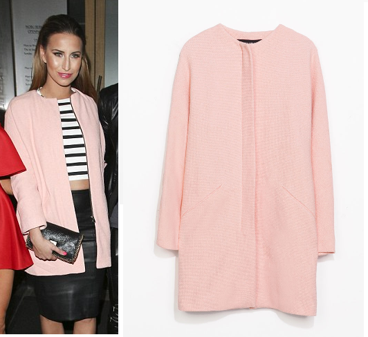 zara collarless coat | Spring Fashions | Pinterest | Ferne mccann