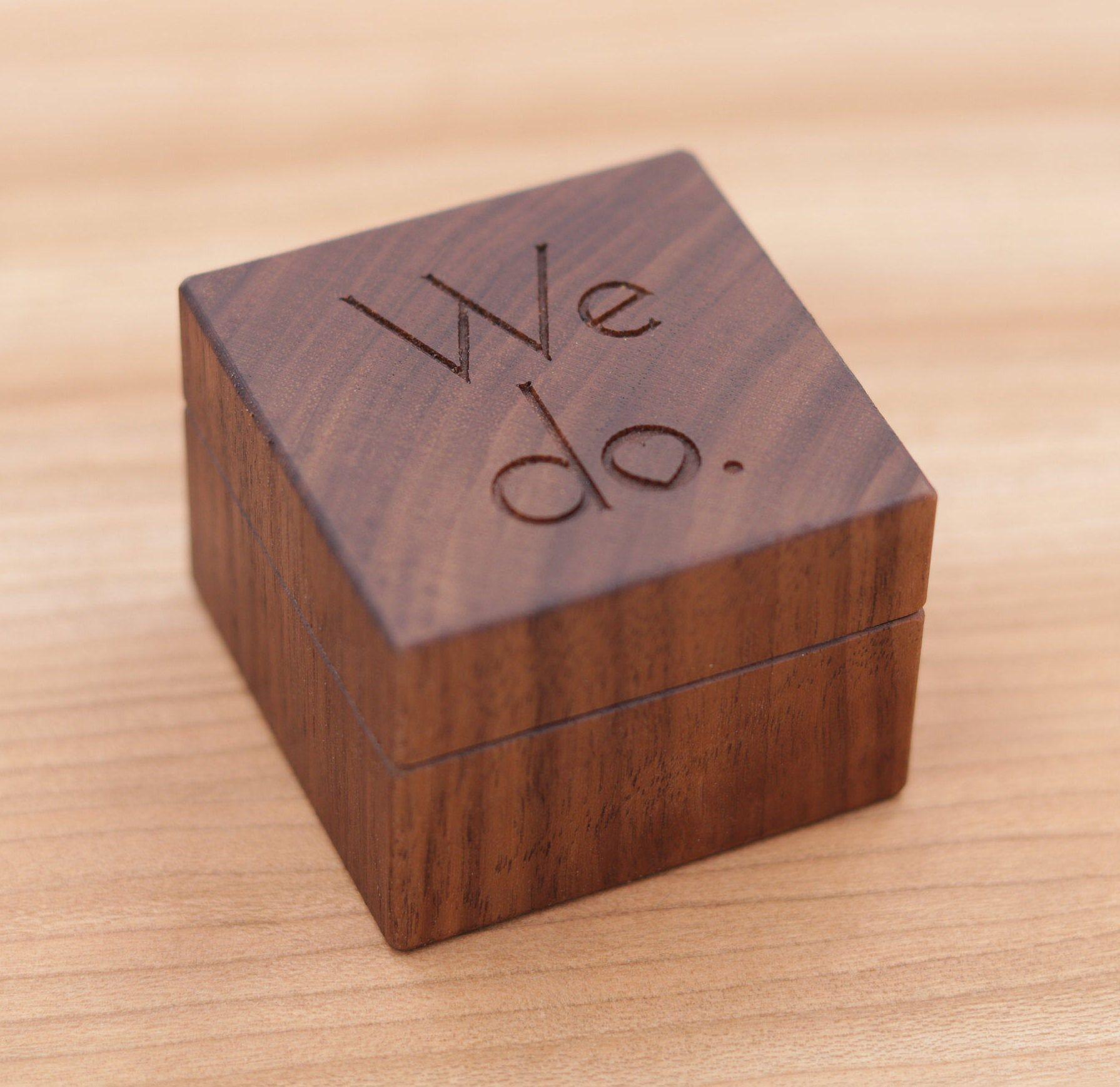 Personalized Ring Box Custom Wood Ring Box Ring Bearer