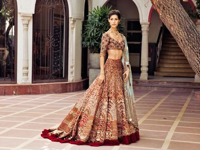 9e48485471a Get Modern and Trendy Wedding Bridal Lehengas Colours